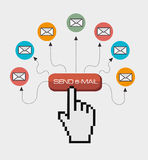 Email design, vector illustration. Royalty Free Stock Image