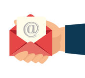 Email design, vector illustration. Royalty Free Stock Photos