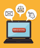 Email design, vector illustration. Royalty Free Stock Images