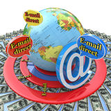 Email direct marketing. Communication concept Stock Images