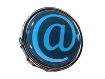 email do ícone 3d Imagens de Stock