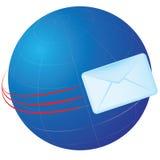 Email do globo Foto de Stock