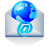 email do mundo 3d. Vetor Imagem de Stock