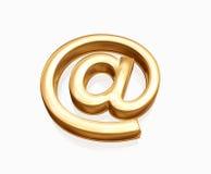 Email do ouro Fotografia de Stock
