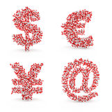 Email dos ienes do dólar do alfabeto dos comprimidos euro- Imagem de Stock