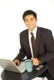 Email e caffè Fotografia Stock Libera da Diritti