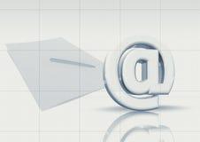 Email e documento di carta Fotografia Stock