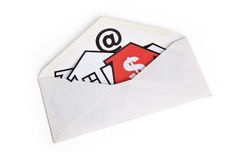 Email e símbolo Home Foto de Stock