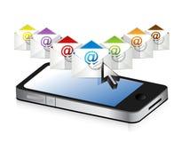 Email e telefono Immagini Stock