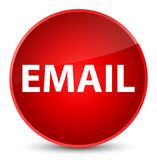 Email elegant red round button Royalty Free Stock Photos