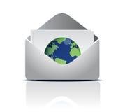 Email em torno do mundo ilustração do vetor