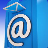 Email On Email box Showing Delivered Mails. Or Inbox Messages Stock Images