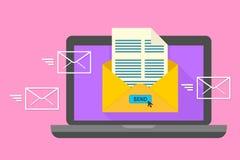 Email, emaila marketing pojęcie Internetowa reklama i cyfrowy marketing, projekta ilustraci zapasu use wektor twój Obraz Royalty Free
