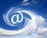 Email en nuages Photographie stock libre de droits