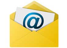 Email Envelope Button Stock Photography