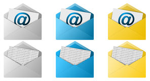 Email Envelope Buttons Royalty Free Stock Images