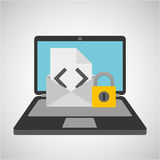 Email envelope data protection cyber security Stock Images