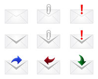 Email Envelope Icons Stock Photos