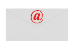 Email Envelope isolated on white Royalty Free Stock Image
