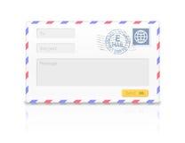 Email envelope isolated on white background. Stock Image