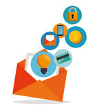 email envelope marketing app icon Royalty Free Stock Photography