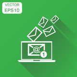 Email envelope message on laptop icon. Business concept e-mail i Stock Photos