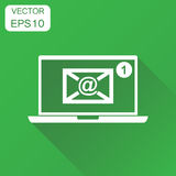 Email envelope message on laptop icon. Business concept e-mail i Royalty Free Stock Photography