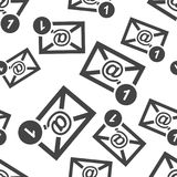 Email envelope message seamless pattern background icon.. Email envelope message seamless pattern background icon. Business flat vector illustration. Mail sign Royalty Free Stock Image