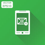 Email envelope message on smartphone icon. Business concept e-ma Stock Photo