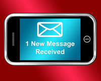 Email Envelope On Mobile Shows Message Received Royalty Free Stock Image