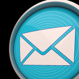 Email Envelope Shows Communication Worldwide Through web Stock Images