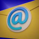 Email Envelope Shows Contact Mailing Online Royalty Free Stock Photos