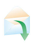 Email Envelope Symbol. VECTOR Royalty Free Stock Photography