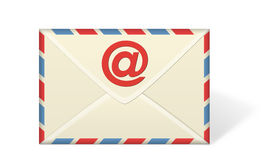 Email Envelope on White background Royalty Free Stock Photos