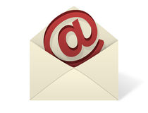 Email Envelope on White background Stock Images