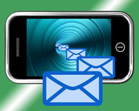Email Envelopes On Mobile Showing Emailing Or Contacting Stock Photo