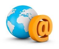 Email et globe Photo libre de droits