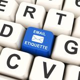 Email Etiquette Electronic Message Rules 3d Rendering. Shows Proper Electronic Mail Polite Correspondence To Send Promotions stock illustration