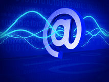 Email filter and technology concept. 3d illustration Royalty Free Stock Images