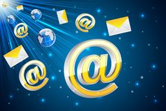 Email Flying Stock Photos