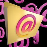 Email Folder Shows Internet Message Sorted Files Royalty Free Stock Images