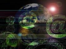 Email global de las series del fondo ilustración del vector