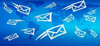 Email Global Marketing Background, web messaging sending mail. Email Global Marketing, Advertising Campaign, Background, web messaging sending mail Royalty Free Stock Images
