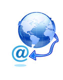 Email globale Fotografie Stock