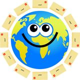 Email globe Stock Images