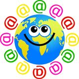 Email globe Royalty Free Stock Photo
