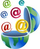Email globe Stock Photo
