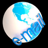 Email At Globe Shows International Communications Royalty Free Stock Image