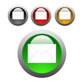 Email glossy buttons Royalty Free Stock Image