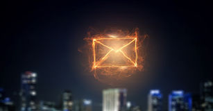 Email glowing icon Stock Image